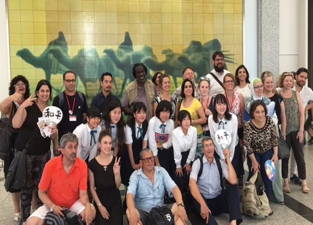 group pic at museum