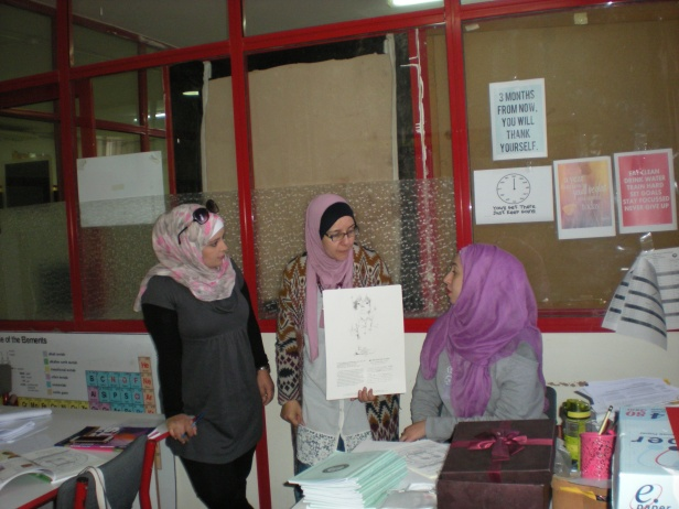 A meeting with English language teachers